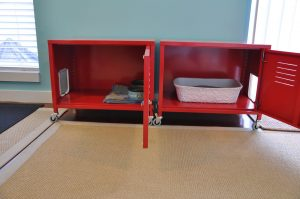 Cabinet Wheels hide litter box