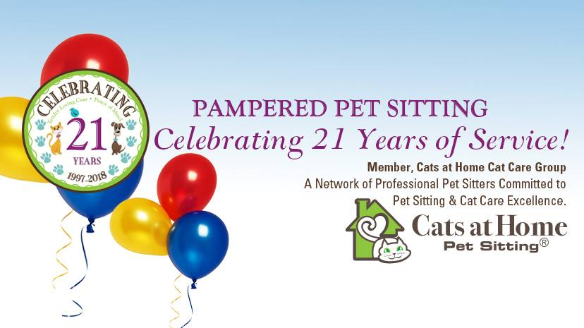 21 year Banner Pampered Pet Sitting Contact Us